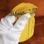 画像8: USAアメリカヴィンテージ牛乳瓶荷札シッピングタグ9枚組|Thatcher Glass Manufacturingアンティーク紙もの (8)