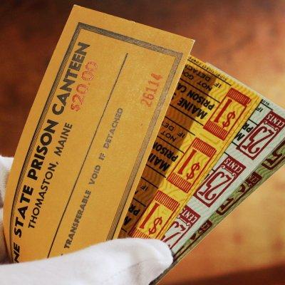 画像3: USAアメリカヴィンテージクーポンチケットブックメイン州刑務所内食堂用|アンティーク紙もの
