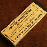 画像11: USAアメリカヴィンテージクーポンチケットブックメイン州刑務所内食堂用|アンティーク紙もの (11)