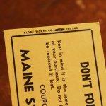 画像12: USAアメリカヴィンテージクーポンチケットブックメイン州刑務所内食堂用|アンティーク紙もの (12)
