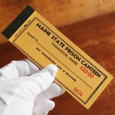 画像1: USAアメリカヴィンテージクーポンチケットブックメイン州刑務所内食堂用|アンティーク紙もの