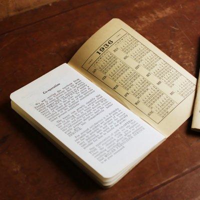 画像2: USAヴィンテージ紙ものメモ帳1930年代2冊組|カレンダー付ノートブックMILLER FERTILIZER