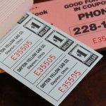 画像10: USAヴィンテージ紙ものクーポンチケットブック1960年代|タクシーYellow Cab DAYTON,OHIO (10)