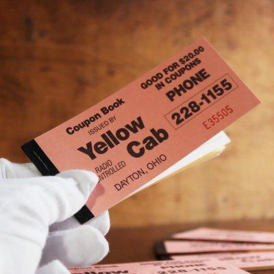 画像1: USAヴィンテージ紙ものクーポンチケットブック1960年代|タクシーYellow Cab DAYTON,OHIO