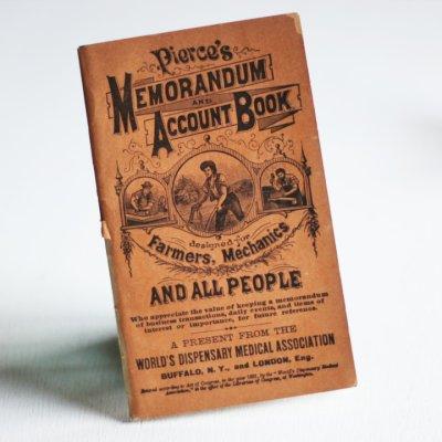 画像1: USAアンティーク紙ものノートブックレット1887年|Pierce's医療と健康の覚書帳簿