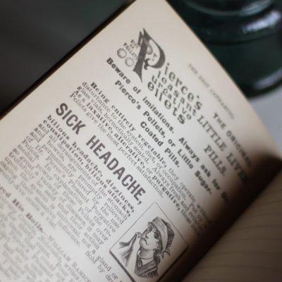 画像2: USAアンティーク紙ものノートブックレット1887年|Pierce's医療と健康の覚書帳簿