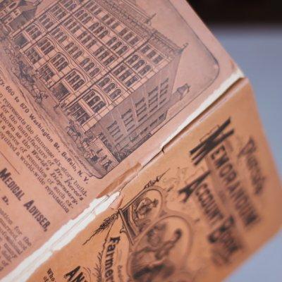 画像3: USAアンティーク紙ものノートブックレット1887年|Pierce's医療と健康の覚書帳簿