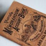 画像4: USAアンティーク紙ものノートブックレット1887年|Pierce's医療と健康の覚書帳簿 (4)