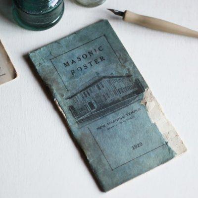 画像3: USAヴィンテージ紙ものフリーメイソンブックレット1929年|Sparta Masonic Templeウィスコンシン