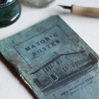 画像1: USAヴィンテージ紙ものフリーメイソンブックレット1929年|Sparta Masonic Templeウィスコンシン