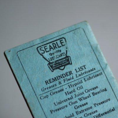 画像2: USAヴィンテージ紙ものメモ帳ノートブックレット|Searle Petroleum Company Omaha Memorandum Book