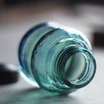 画像8: ヴィンテージガラス瓶インクボトルAngel・ENZERU|昭和戦前ガラスボトル (8)