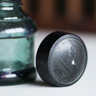 画像3: ヴィンテージガラス瓶インクボトルAngel・ENZERU|昭和戦前ガラスボトル