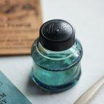 画像3: ヴィンテージガラス瓶インクボトルAngel・ENZERU|昭和戦前ガラスボトル (3)
