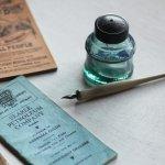画像11: ヴィンテージガラス瓶インクボトルAngel・ENZERU|昭和戦前ガラスボトル (11)