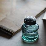 画像13: ヴィンテージガラス瓶インクボトルAngel・ENZERU|昭和戦前ガラスボトル (13)