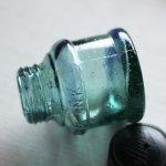 画像17: ヴィンテージガラス瓶インクボトルAngel・ENZERU|昭和戦前ガラスボトル (17)