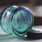 画像20: ヴィンテージガラス瓶インクボトルAngel・ENZERU|昭和戦前ガラスボトル (20)
