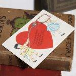 画像5: USAヴィンテージ1929年紙ものバレンタイングリーティングカード|ハート・男の子・女の子 (5)
