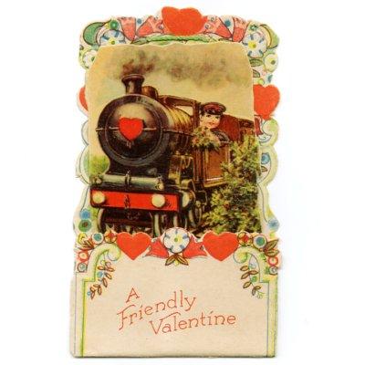 画像1: USAヴィンテージ1930年代紙ものバレンタインデーグリーティングカード|A Friendly Valentineアンティーク紙もの