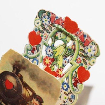 画像3: USAヴィンテージ1930年代紙ものバレンタインデーグリーティングカード|A Friendly Valentineアンティーク紙もの