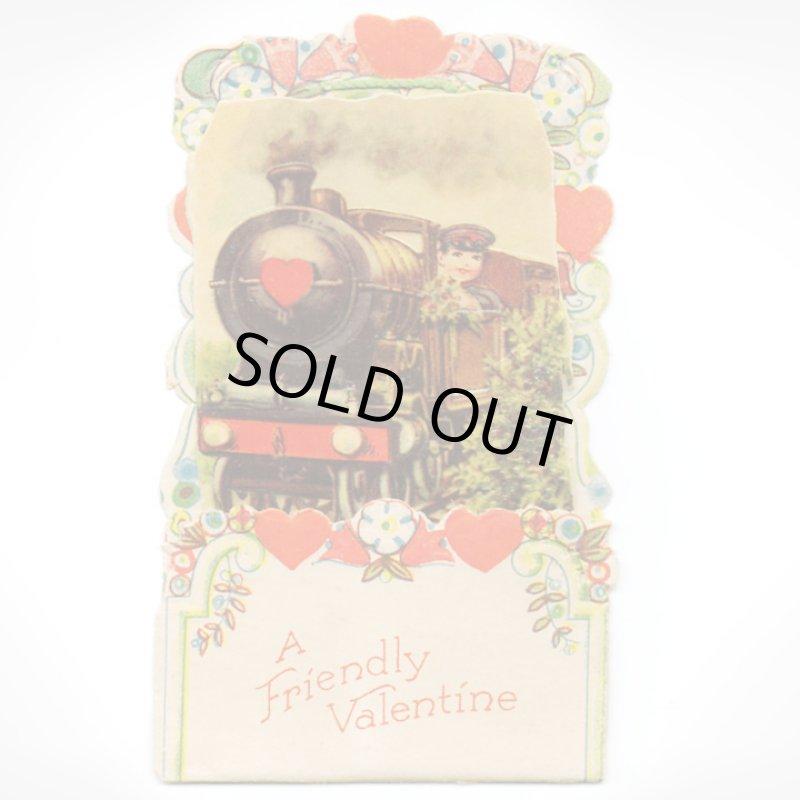 画像1: USAヴィンテージ1930年代紙ものバレンタインデーグリーティングカード A Friendly Valentineアンティーク紙もの (1)