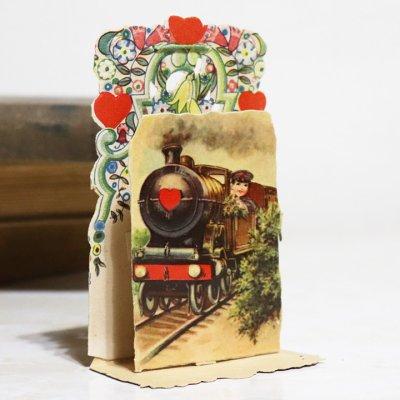 画像2: USAヴィンテージ1930年代紙ものバレンタインデーグリーティングカード|A Friendly Valentineアンティーク紙もの
