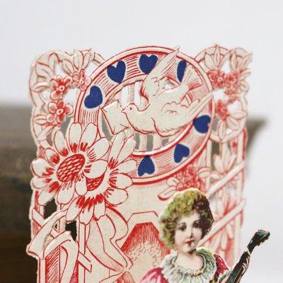 画像3: USAヴィンテージ1930年代紙ものバレンタインデーグリーティングカード|To my Valentine天使・男の子アンティーク