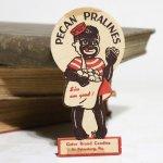 画像4: USAヴィンテージ紙ものパッケージラベル・ピーカンナッツプラリネを売る子供 アンティークアドバタイジング (4)