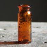 画像3: USAヴィンテージアンバーガラスミニメディシンボトル|BELL ANS薬瓶 (3)