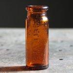 画像4: USAヴィンテージアンバーガラスミニメディシンボトル|BELL ANS薬瓶 (4)