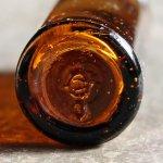 画像8: USAヴィンテージアンバーガラスミニメディシンボトル|BELL ANS薬瓶 (8)