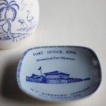 画像8: USAヴィンテージスーベニアプレート皿|お土産IOWA The Fort Museum記念品1969 (8)