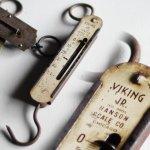 画像1: USAヴィンテージハンギングスケール|量りポケットバランスHanson Scale Co. Viking Jr. Hanging Scale No.8905 (1)
