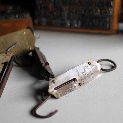 画像1: USAアンティークハンギングスケール25LB|真鍮量りポケットバランスCHATILLON#3