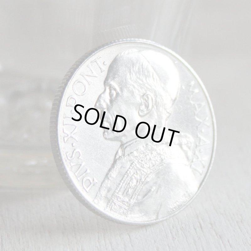 画像1: ヴィンテージ1949年アルミ製ヴァチカン市国ピウス12世(ピオ12世)バチカン5リラ|コインメダル硬貨 (1)