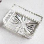 画像2: アメリカヴィンテージカットグラスガラストレイ|アンティーク小物入れ小皿 (2)