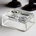 画像6: アメリカヴィンテージカットグラスガラストレイ|アンティーク小物入れ小皿 (6)