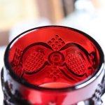 画像6: アメリカヴィンテージAVONケープゴットミニワイングラスゴブレットルビーレッド|アンティークカットグラス (6)