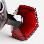 画像9: アメリカヴィンテージAVONケープゴットミニワイングラスゴブレットルビーレッド|アンティークカットグラス (9)
