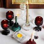 画像14: アメリカヴィンテージAVONケープゴットミニワイングラスゴブレットルビーレッド|アンティークカットグラス (14)