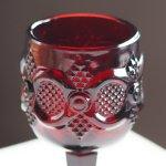 画像5: アメリカヴィンテージAVONケープゴットミニワイングラスゴブレットルビーレッド|アンティークカットグラス (5)