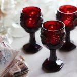 画像11: アメリカヴィンテージAVONケープゴットミニワイングラスゴブレットルビーレッド|アンティークカットグラス (11)