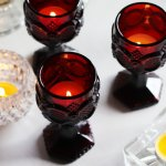画像12: アメリカヴィンテージAVONケープゴットミニワイングラスゴブレットルビーレッド|アンティークカットグラス (12)
