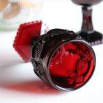 画像4: アメリカヴィンテージAVONケープゴットミニワイングラスゴブレットルビーレッド|アンティークカットグラス (4)