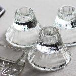 画像6: アメリカヴィンテージHOMCOクリアガラスキャンドルスタンドホルダー|アンティークグラス (6)