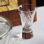 画像8: アメリカヴィンテージクリアカットガラスショットグラス|アンティークエッチング切子 (8)