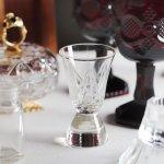 画像10: アメリカヴィンテージクリアカットガラスショットグラス|アンティークエッチング切子 (10)