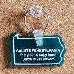 画像3: USAアドバタイジングUSEDキーホルダーSALUTE PENNSYL VANIA|アメリカン雑貨販売促進グッズ制作会社 (3)