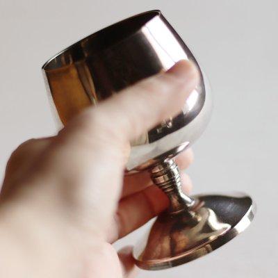 画像2: スペインヴィンテージシルバープレートカップワイングラスゴブレット|アンティーク銀食器銀メッキ